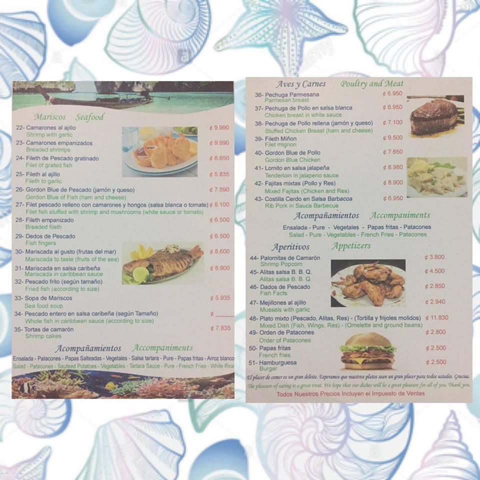 the hook up costa rica menu